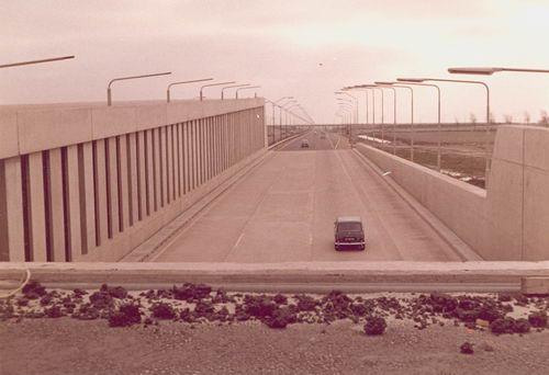 Rijksweg A4 1966+ bij Schipholtunnel