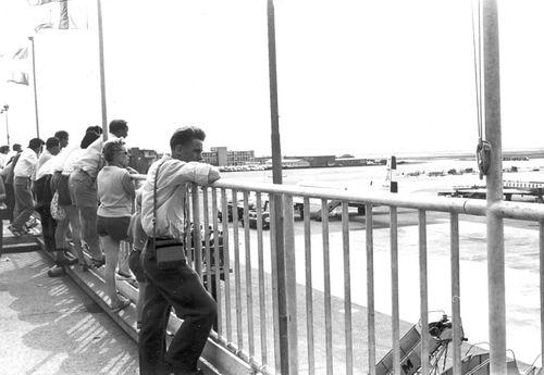 Schiphol 1959 tijdens Vakantie fam Kroon 01