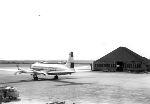Schiphol 1959 tijdens Vakantie fam Kroon 03
