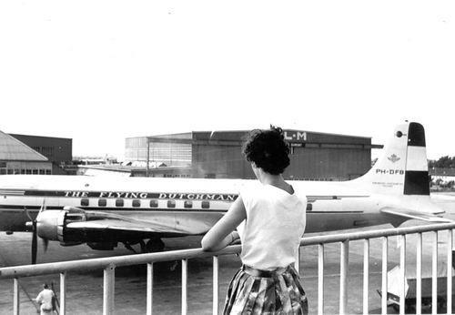 Schiphol 1959 tijdens Vakantie fam Kroon 04