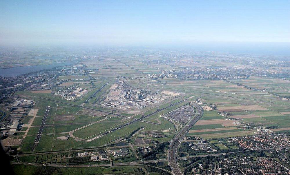 Schiphol 19__ Luchtfoto vanaf Noorden
