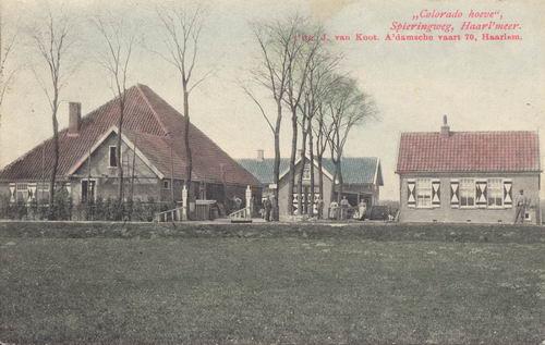 Spieringweg W 0865 1907 Coloradohoeve Ingekleurd