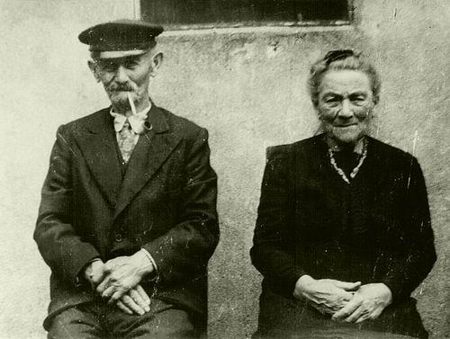 Stammis Simon 1942 met vrouw Johanna Rib