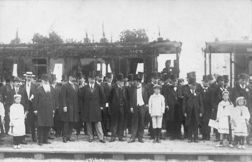 Stationsweg Station 1912 Spoorlijnopening