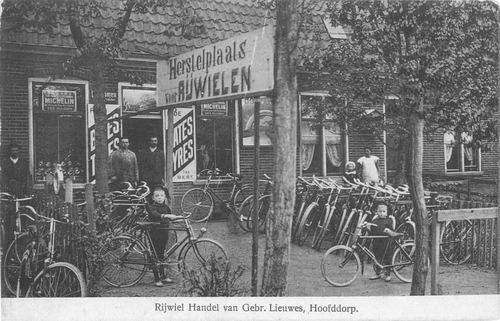 Stationsweg W 002_ 1914 Rijwielhandel Lieuwes