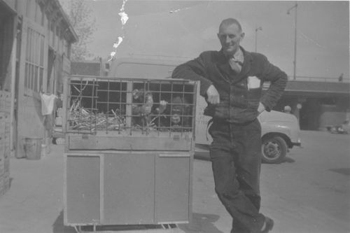 Tienderen Gebr 1960± Cor Honcoop met Apentransport