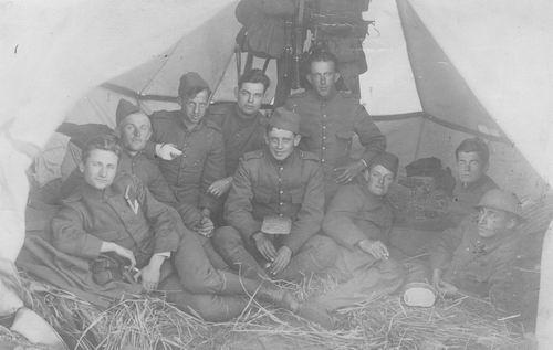 Vastenhout Petrus M 1918-19 in Militaire dienst