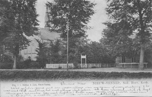 Venneperweg N 0471 1904 met NH Kerk