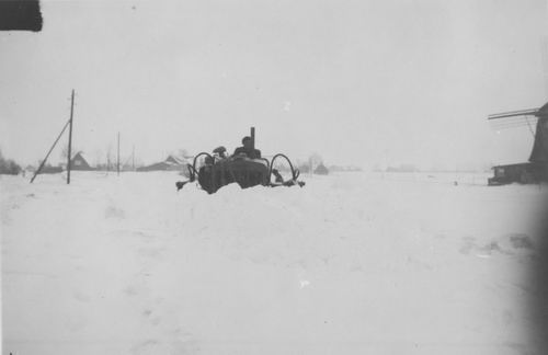 Vijfhuizerdijk 000001 1947 met Sneeuwschuiver op Ringvaart 01