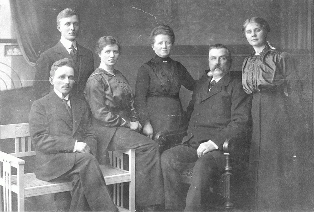 Westerdijk Cornelis Berend 1914 Gezinsfoto met dochter Anna