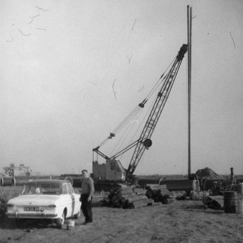 Wieringen Jan v 1933 1965 met Dragline bij Ruwwater Pijpleidingen bij IJweg 02