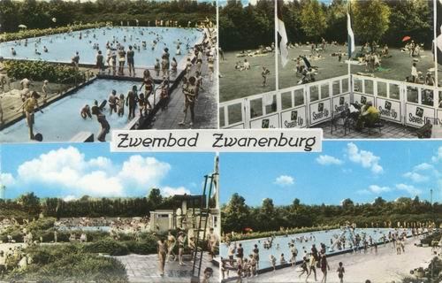 Zwanenburg Zwembad 1969 4 luik kleur