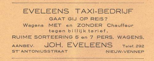Anthoniusstraat 0000 1938 Joh Eveleens Taxibedrijf