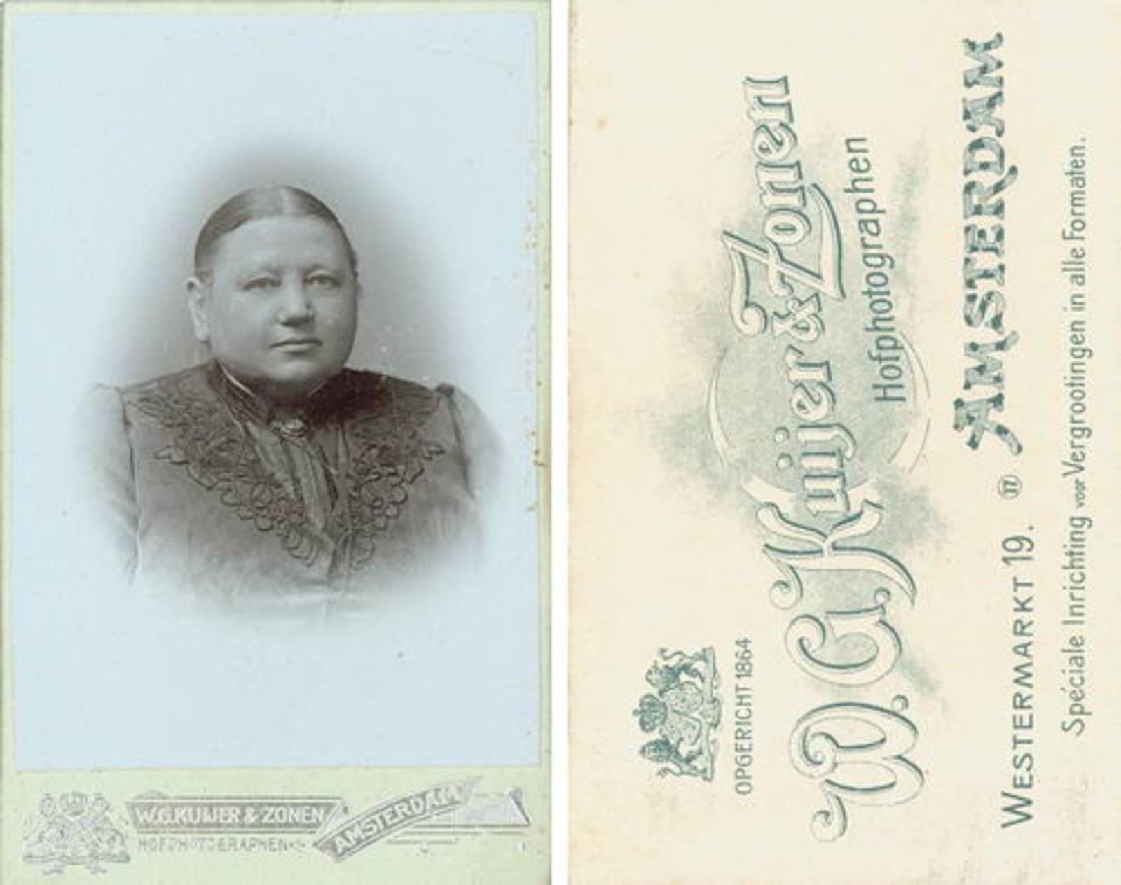 Biesheuvel Barend Wzn 1832 1915 2e vrouw Bertha Wamsteker Portret