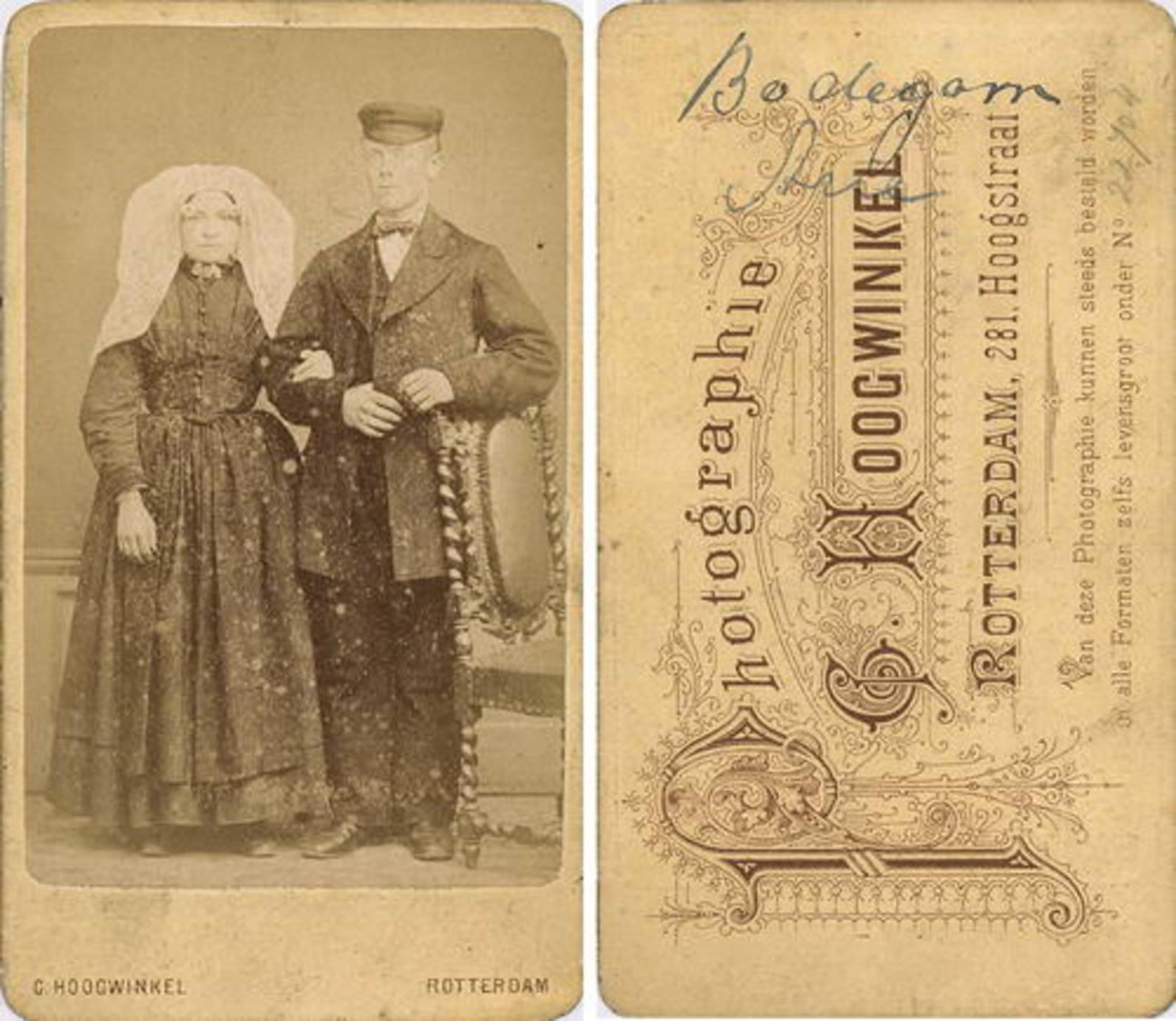 Biesheuvel Barend Wzn 1832 19__ Schoonouders Arie v Bodegem bij Fotograaf
