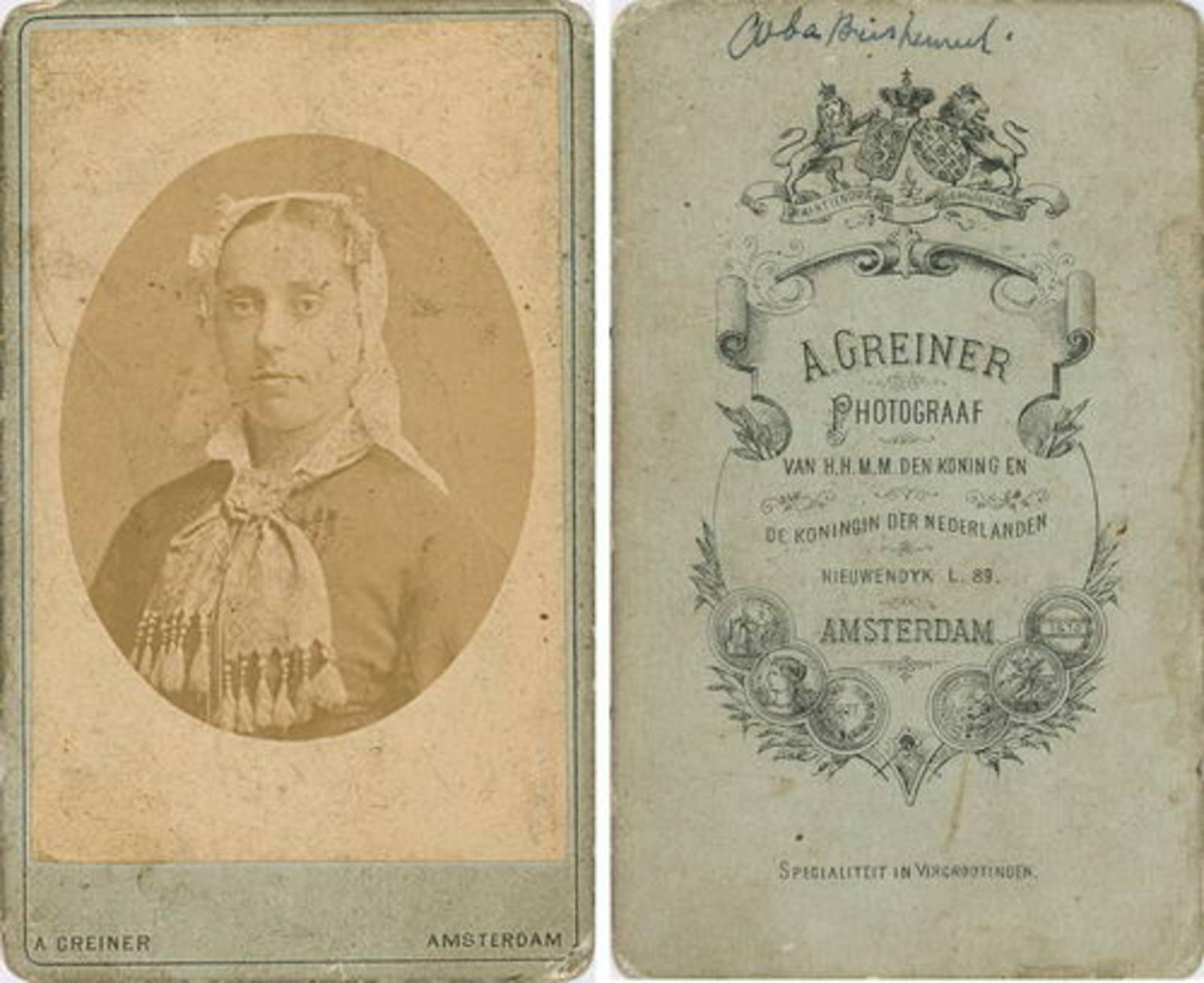 Biesheuvel Christiaan Wzn 1835 19__ dochter Coba 19__ Portret