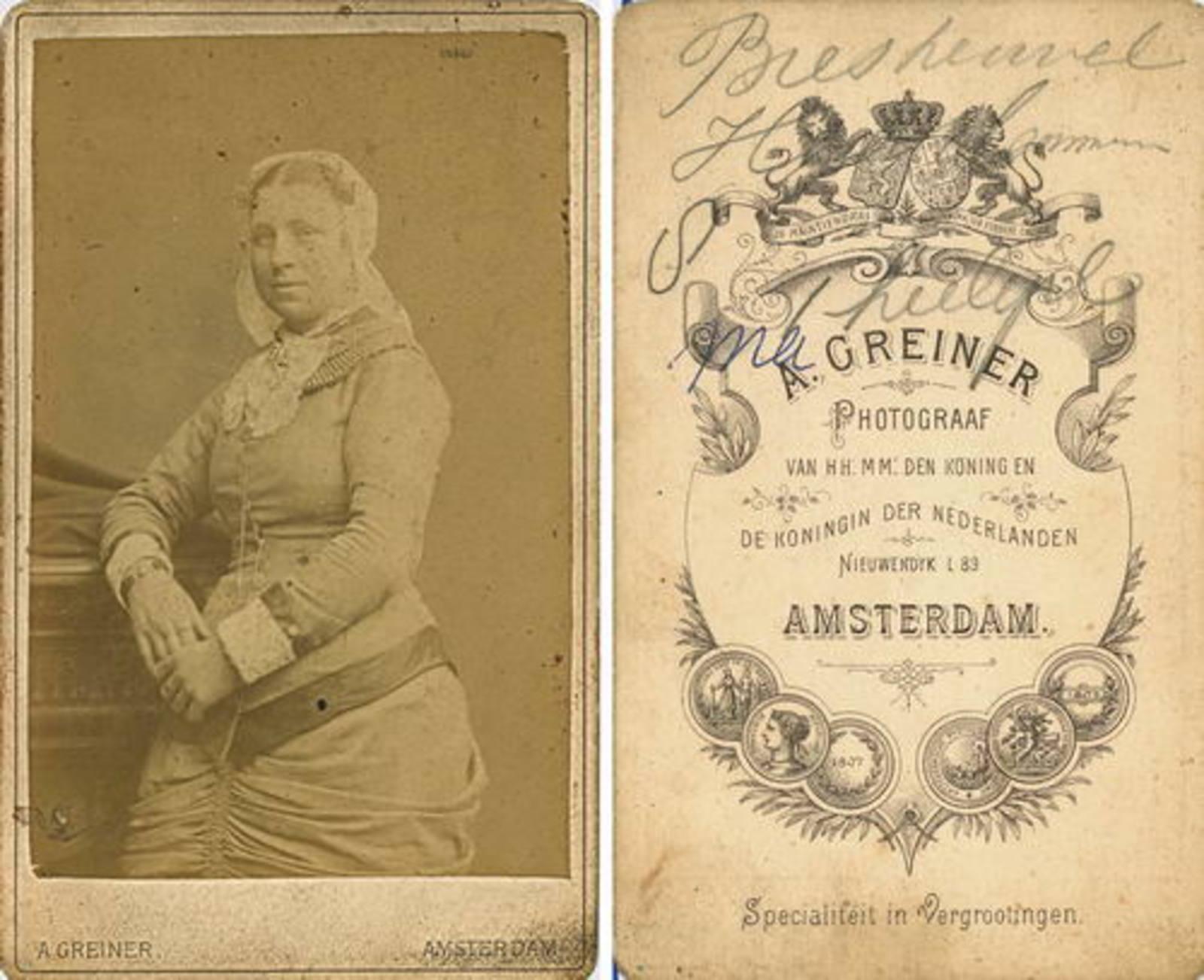Biesheuvel Christiaan Wzn 1835 19__ dochter Ma bij Fotograaf