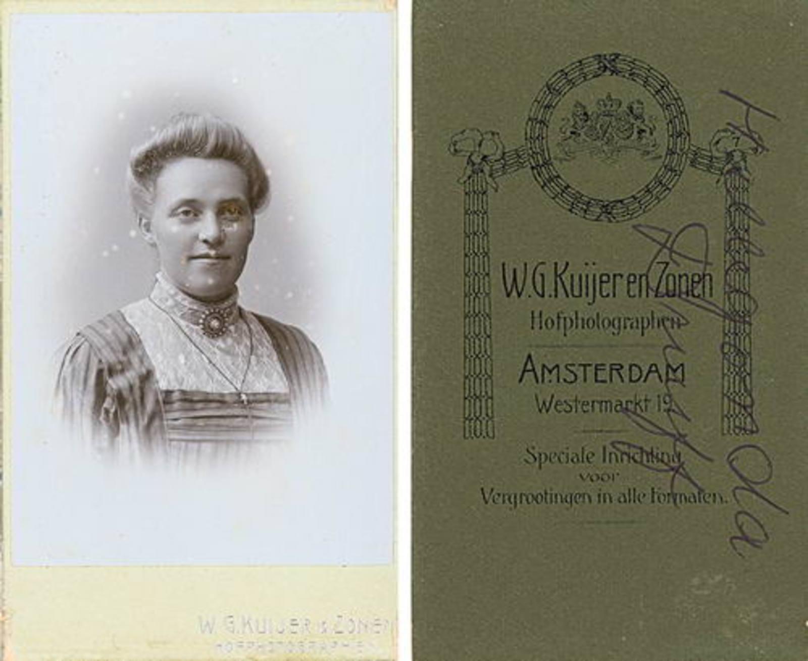 Biesheuvel Marie Bdr 1858 19__ Dochter Hillegonda Druif Portret