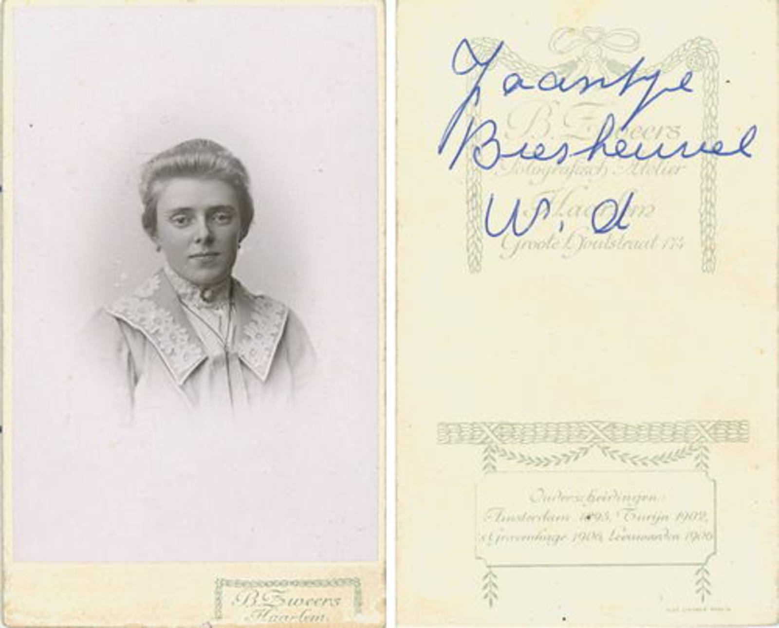 Biesheuvel Willem Bzn 1860 19__ dochter Jaantje Portret