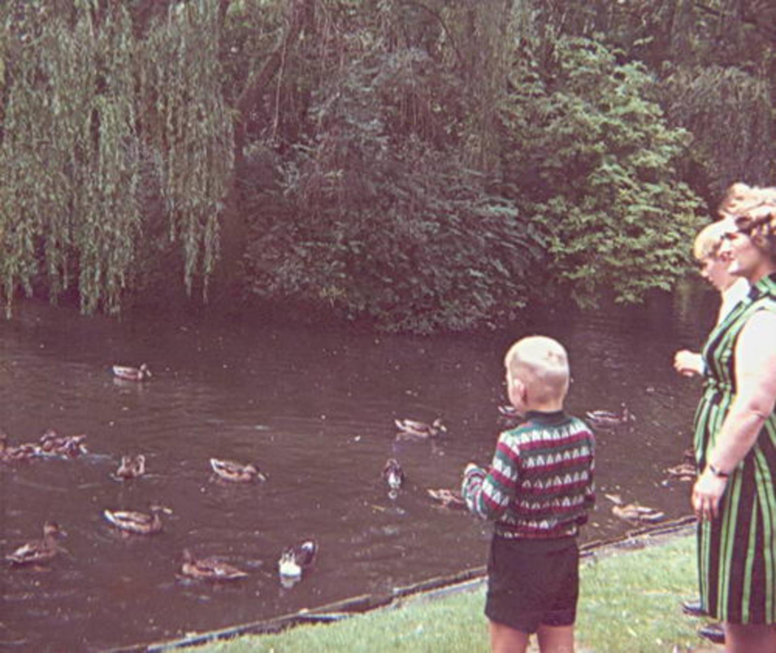 Boslaan 0000 Wandelbos 1966 met Leentje Imanse-Bliek en