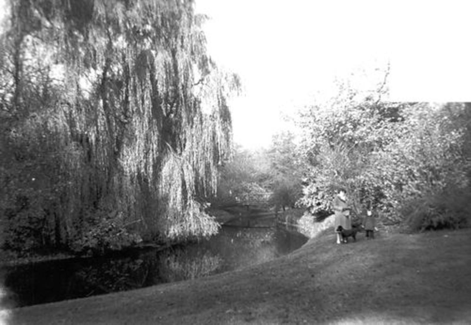 Boslaan 0000 Wandelpark 1958± met fam de Koning 03
