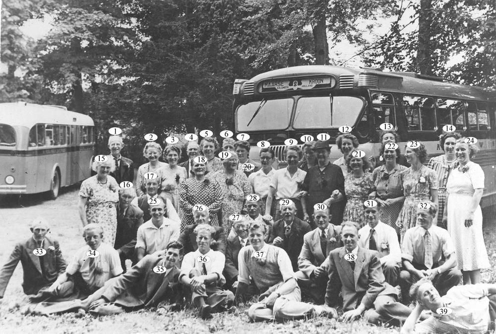 Reisvereninging Crescendo Grote Poellaan 1952-54 Uitje met de Bus_Index