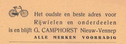 Camphorst G 1938 Rijwielhandel in Nieuw-Vennep