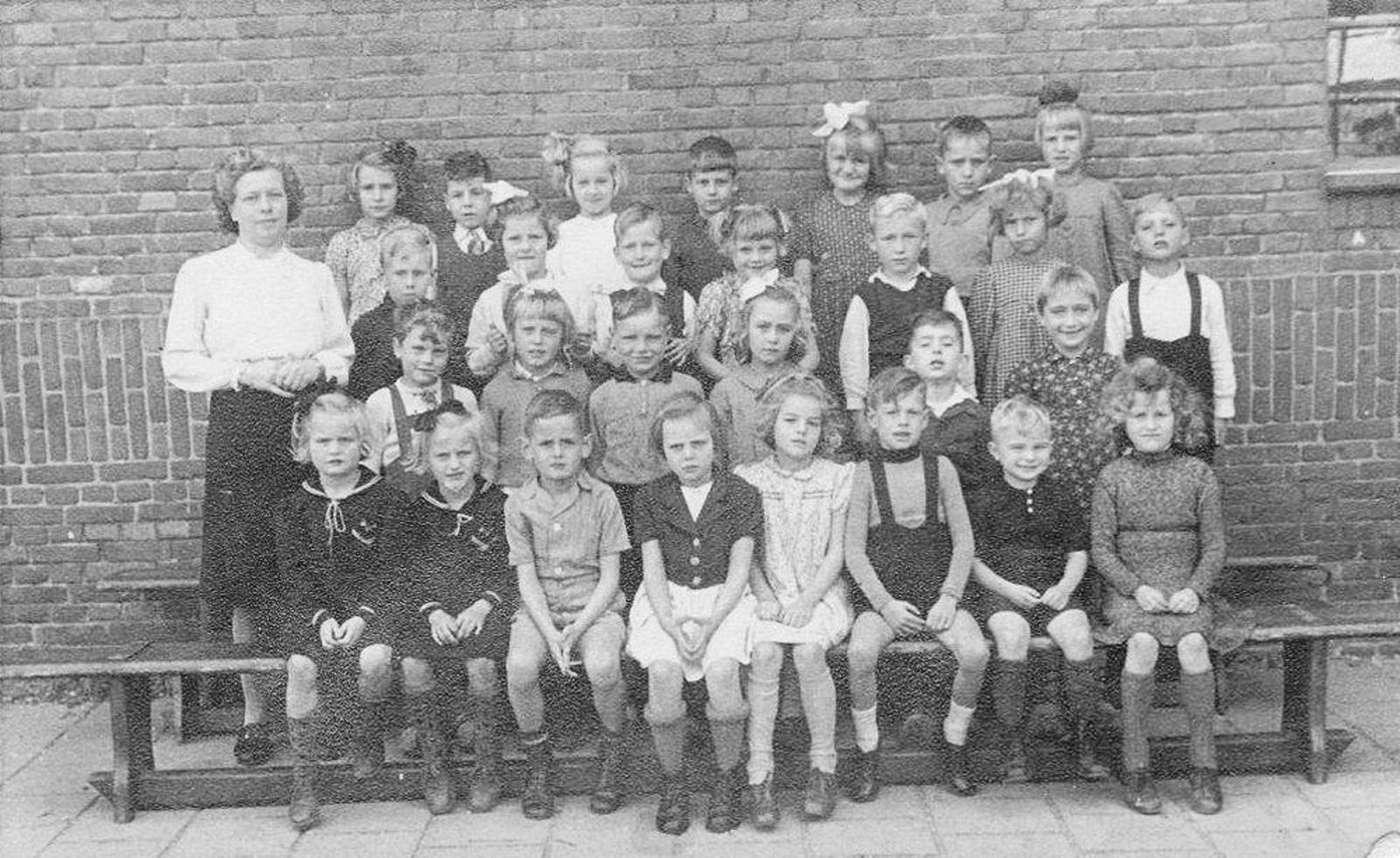 Christelijke School Hoofddorp 1947± met Joop de Boer