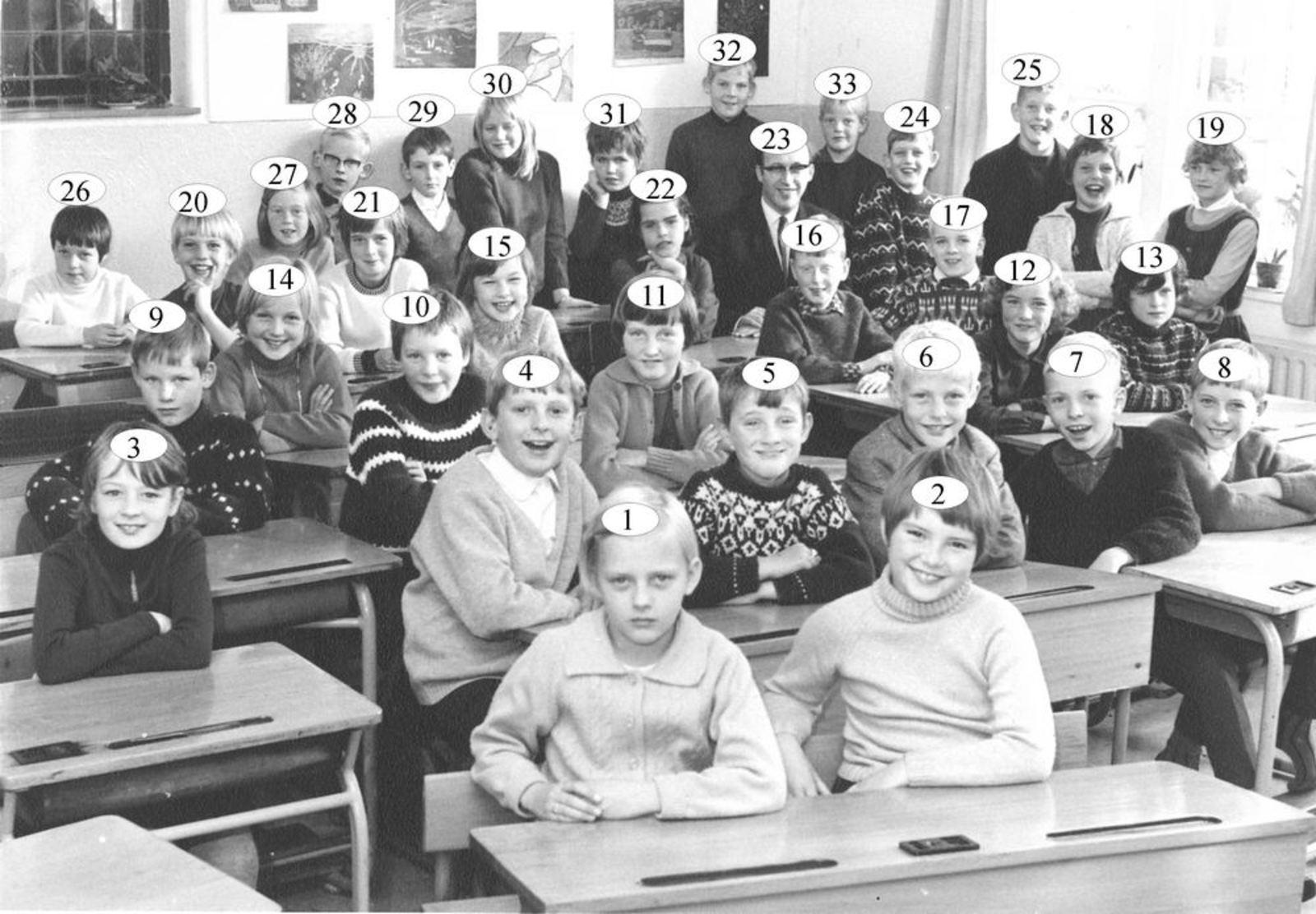 Christelijke School Hoofddorp 1967 Klas 4 met Daan Poortvliet_Index