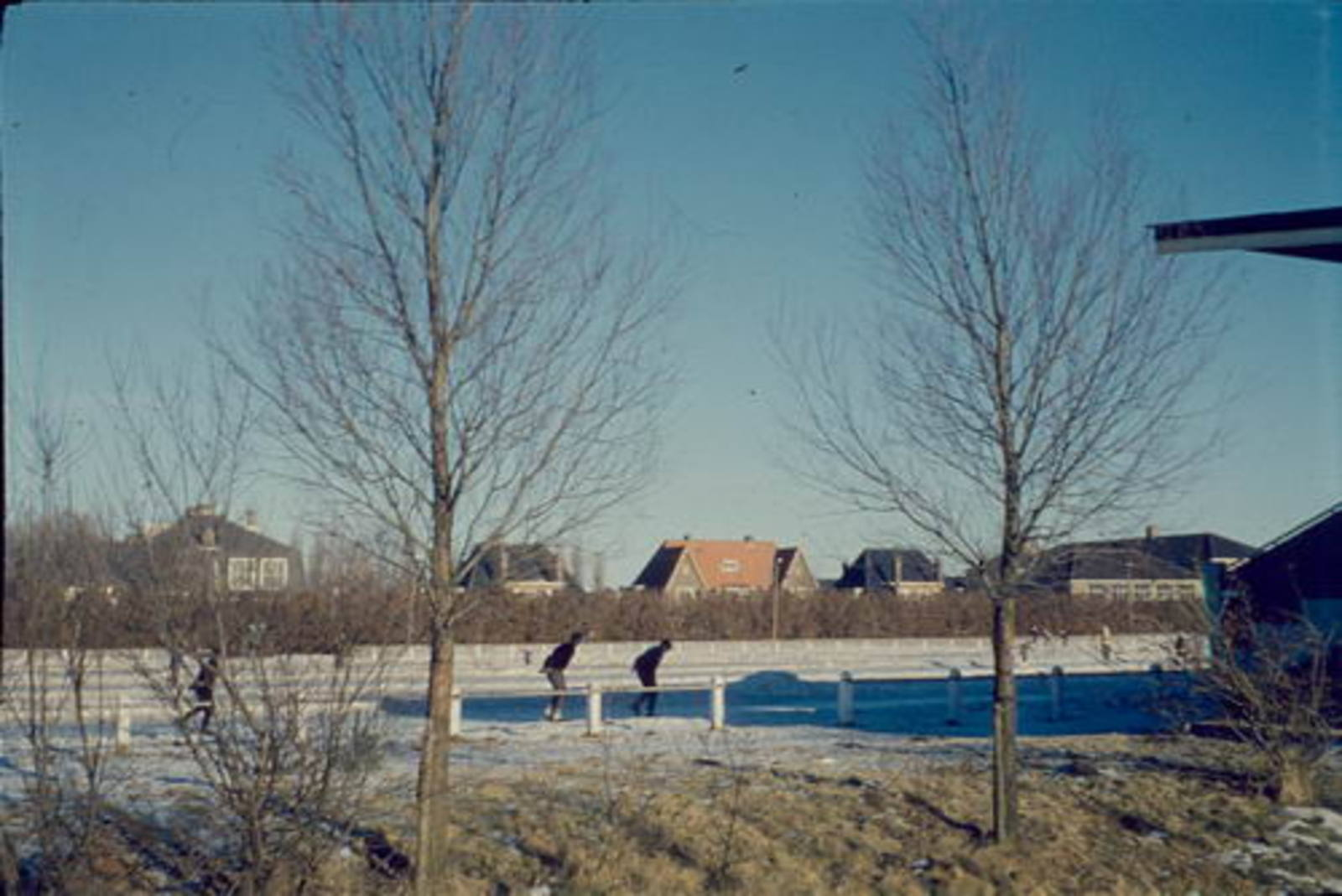 Concourslaan Z 0080+ IJsbaan 1962ongeveer vanaf Tuinweg