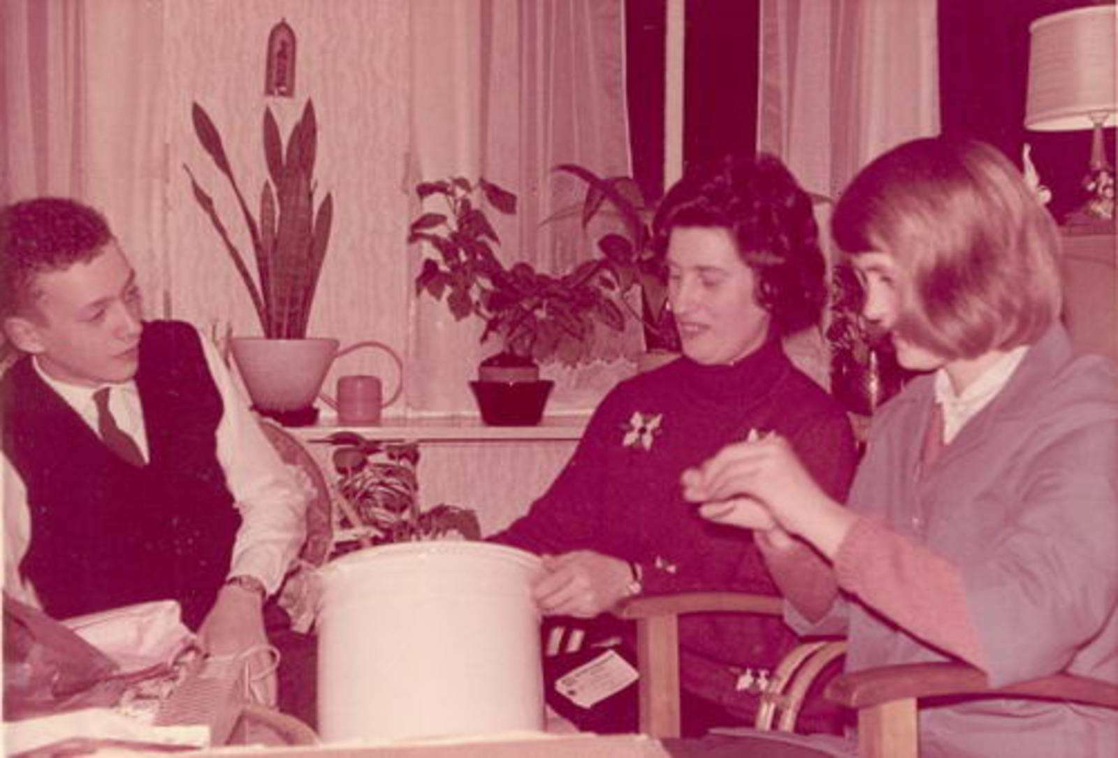 Dam-Stroomer Geertje 1901 1966± Sinterklaas met Familie 02