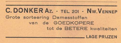 Donker C Azn 1938 Manufacturen in Nieuw-Vennep
