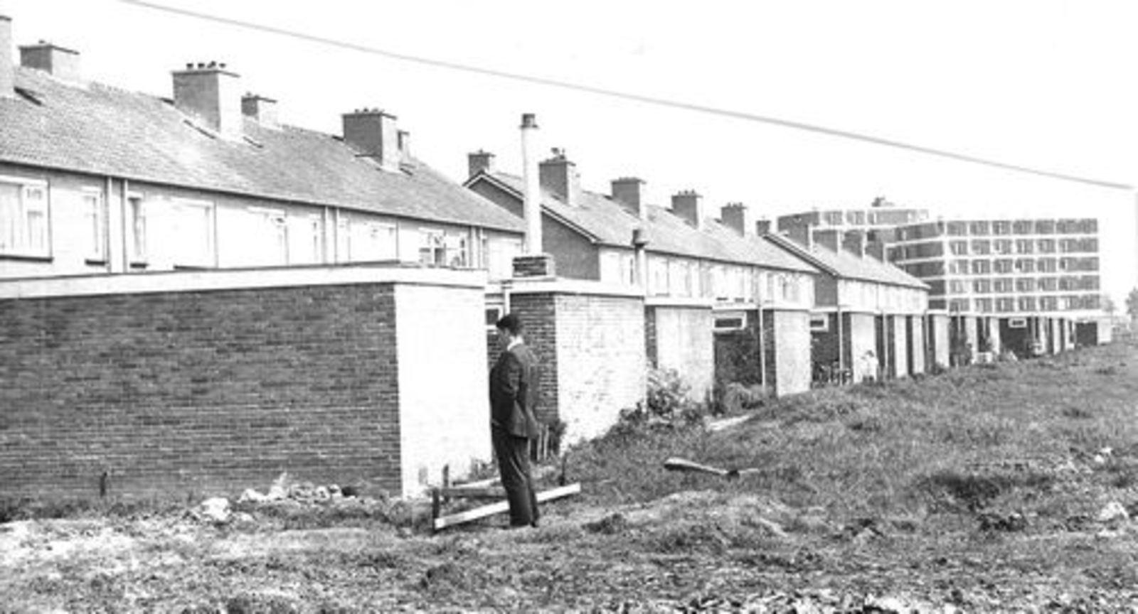 Dorserstraat 0068- 1970± Achterzijde tijdens bouw Zichtweg