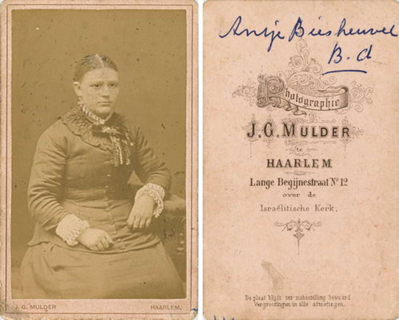 Eversen - Biesheuvel Antje 1866 19__ bij Fotograaf