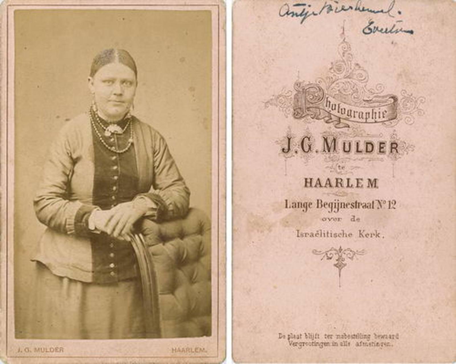 Eversen - Biesheuvel Antje 1866 19__ bij Fotograaf 02