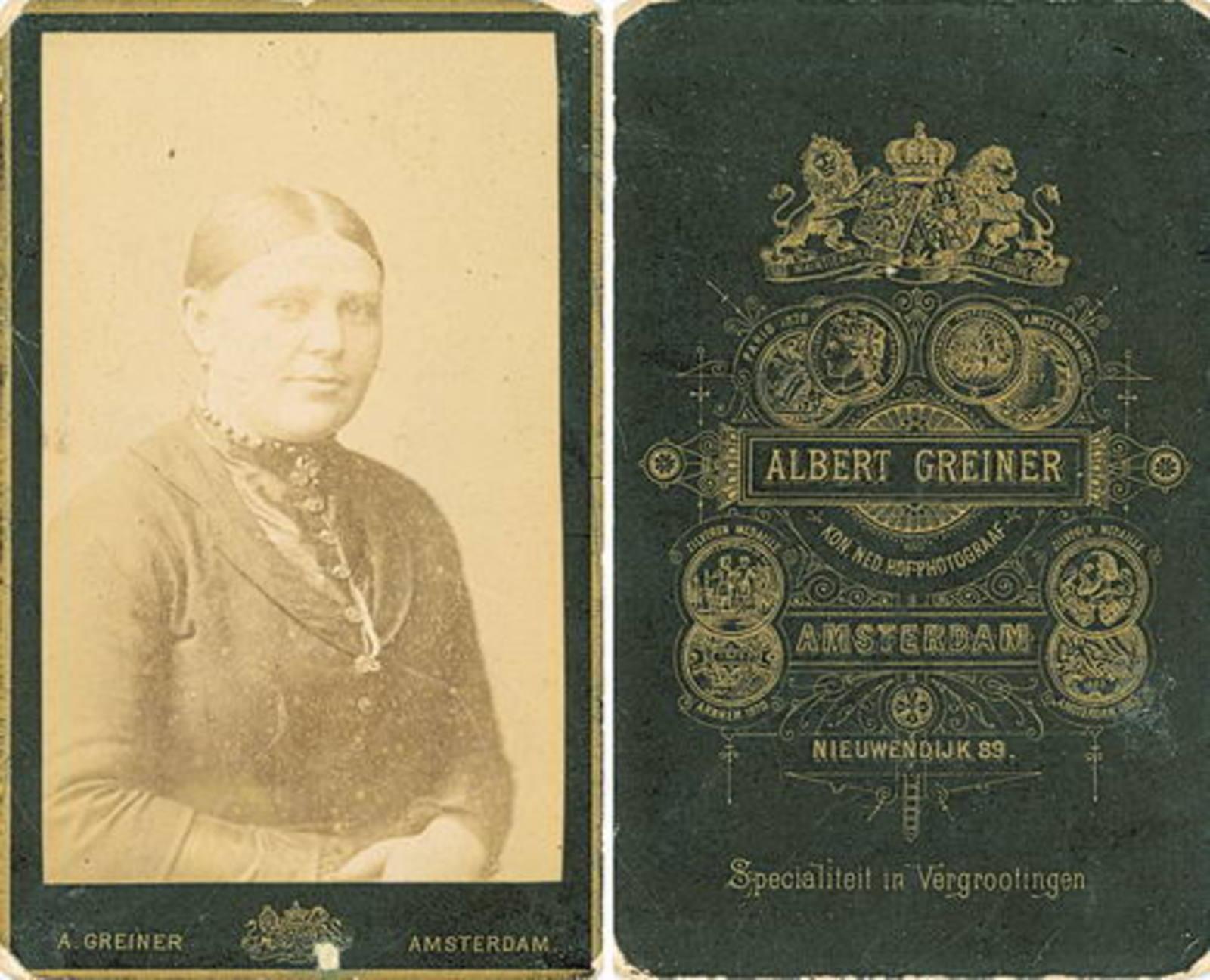 Eversen - Biesheuvel Antje 1866 19__ Portret