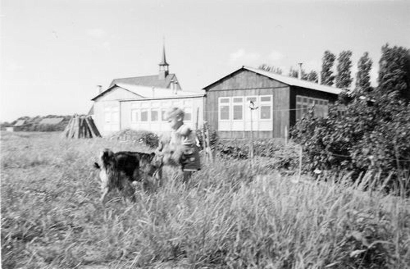 Fortweg W 0039 1952± achter in Tuin met Schutsehokken 01