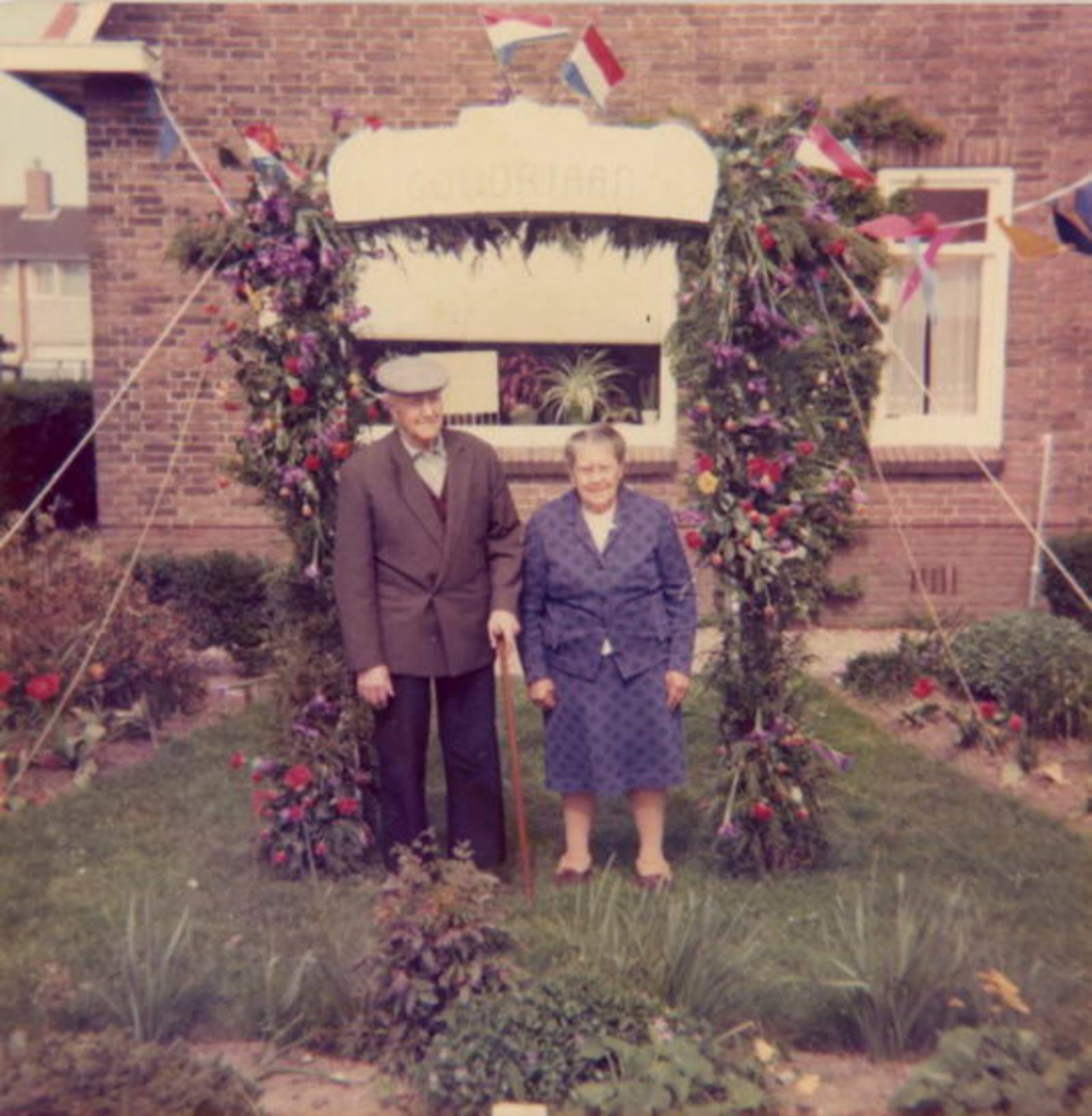 Goudriaan Kobus 19__ Jubileum met vrouw Marie Malipaard