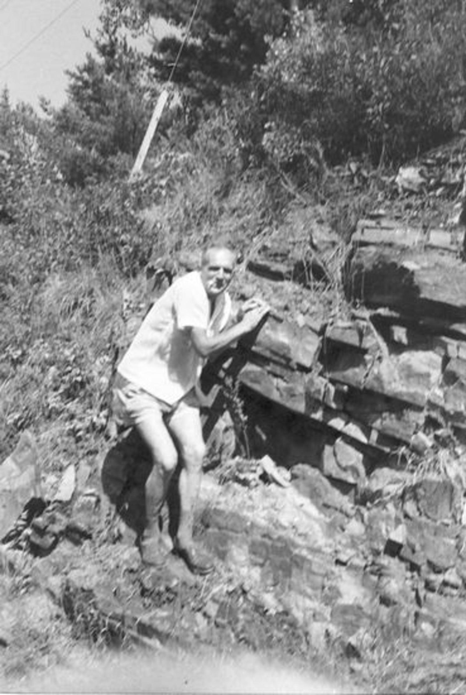 Groef Cor vd 1911 19__ als Bergbeklimmer