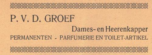 Groef P vd 1938 Kapper in Nieuw-Vennep