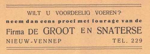 Groot en Snaterse Firma de 1938 Fouragehandel in Nieuw-Vennep