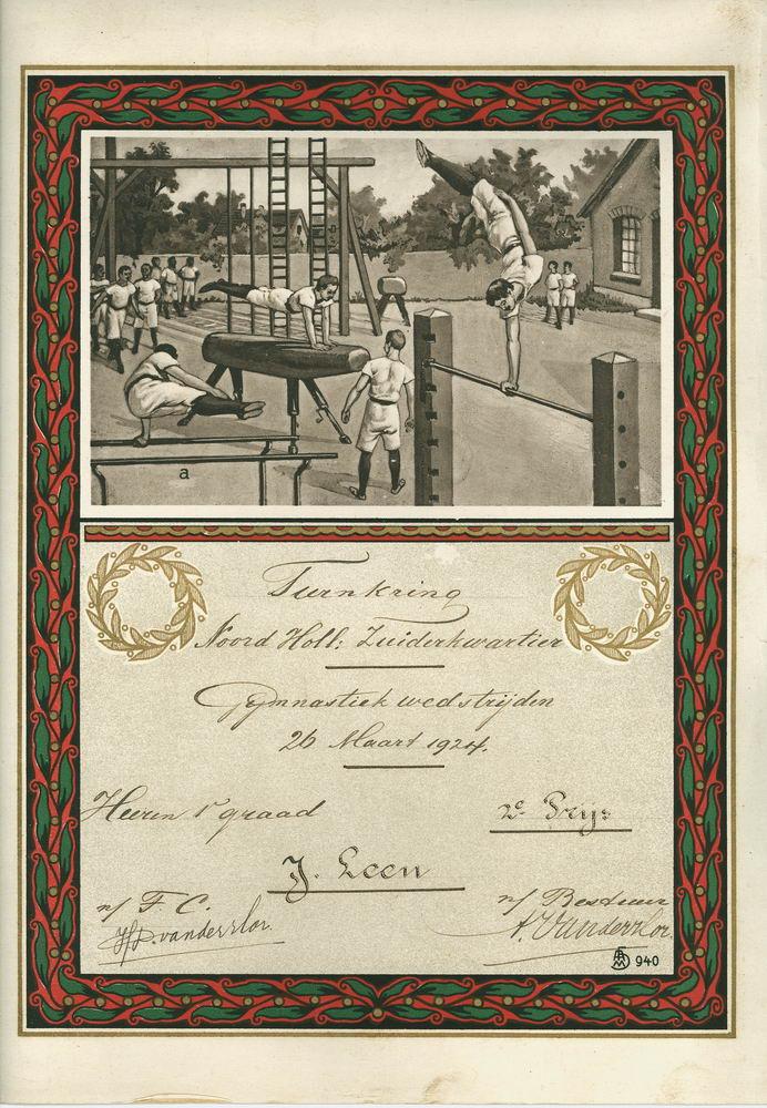 Gym en Athletiek Ver Hoofddorp 1924 2e prijs Jan Leen