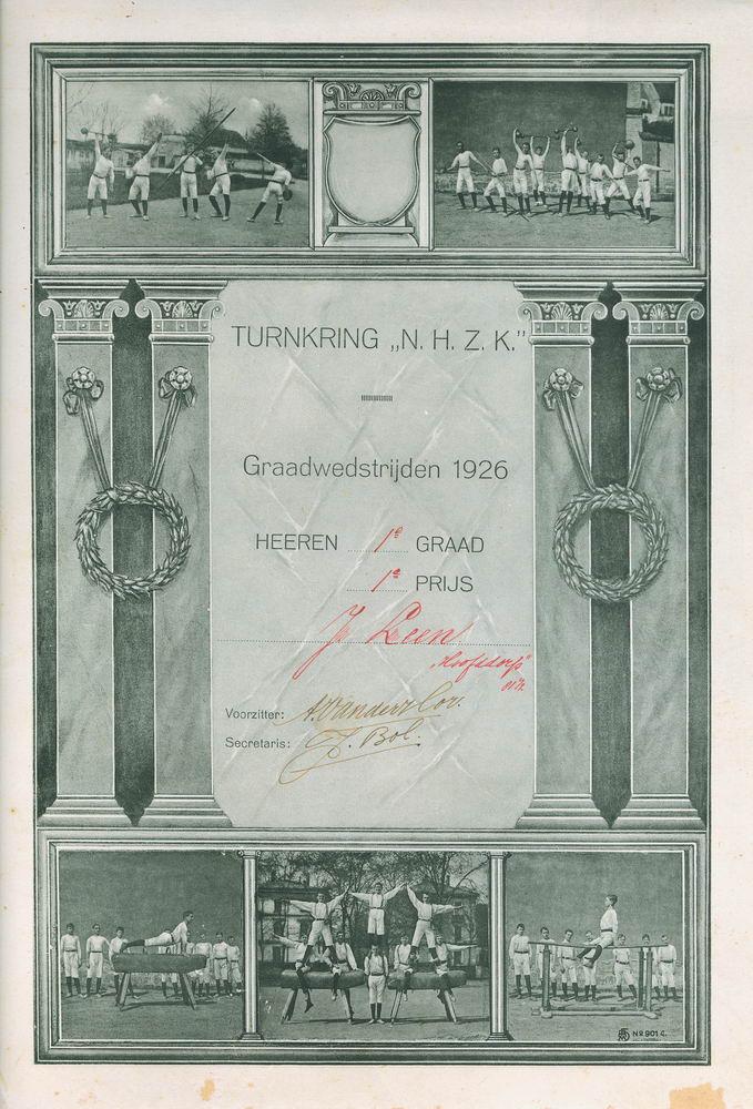 Gym en Athletiek Ver Hoofddorp 1926 1e prijs Jan Leen