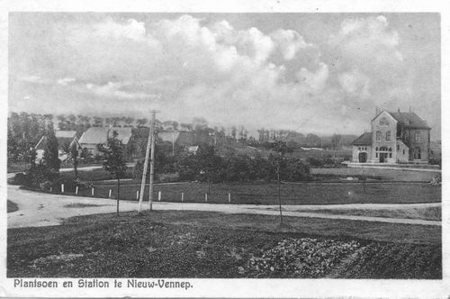 Haeringenplantsoen 1925 Station en Plantsoen a