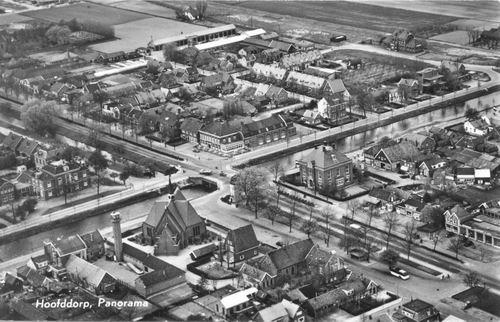 Hoofddorp Centrum 1955 uit de lucht