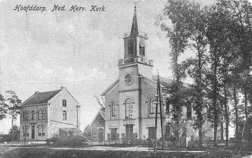Hoofdweg O 0772-774 1920 NH Kerk gevouwen