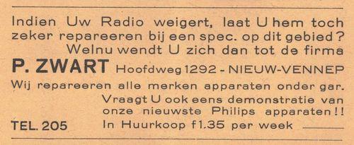 Hoofdweg O 1292 1938 radios P Zwart