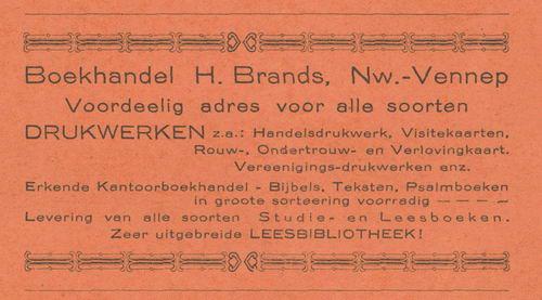 Hoofdweg O 12__ 1938 Boekhandel H Brands