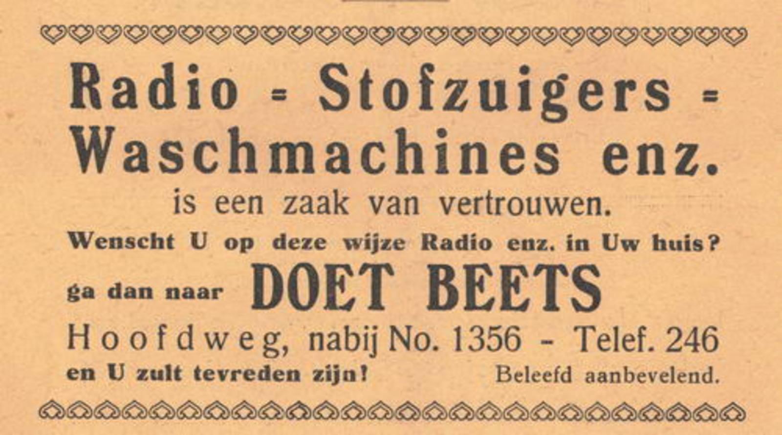 Hoofdweg O 1356± 1938 Radios v Doet Beets