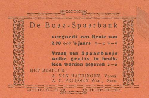Hoofdweg W 12__ 1938 Boaz-Spaarbank